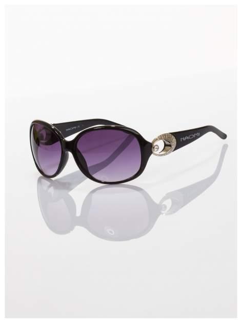 Czarne klasyczne okulary w sytlu MUCHY                                  zdj.                                  1