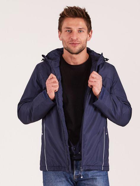 4F Granatowa kurtka narciarska dla mężczyzny                              zdj.                              8
