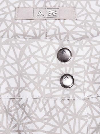 ADIDAS Beżowe szorty w geometryczne wzory                                  zdj.                                  3
