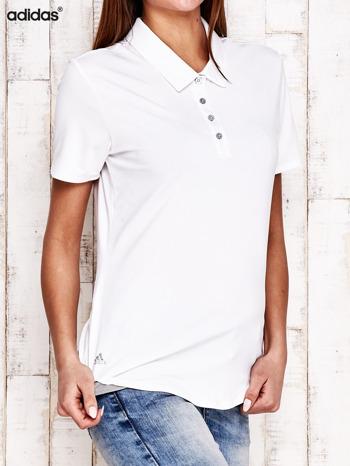 ADIDAS Biała koszulka polo                                   zdj.                                  2