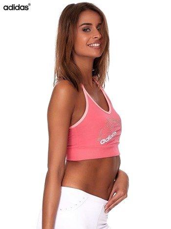 ADIDAS Różowy krótki top z haftem i napisem                              zdj.                              5