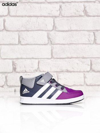 ADIDAS Szare buty sportowe dziecięce z zapięciem na rzepy                                  zdj.                                  1