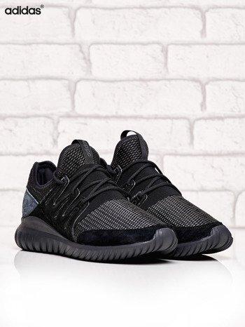 ADIDAS czarne buty męskie Tubular Radial z plecioną membraną
