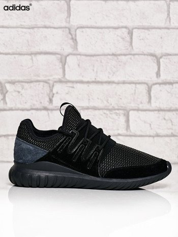 ADIDAS czarne buty męskie Tubular Radial z plecioną membraną                              zdj.                              1