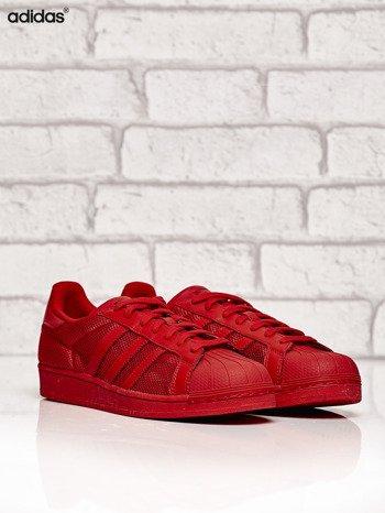 ADIDAS czerwone buty męskie Superstar Collegiate Red o dziurkowej fakturze                              zdj.                              2