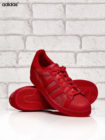 ADIDAS czerwone buty męskie Superstar Collegiate Red o dziurkowej fakturze                              zdj.                              3