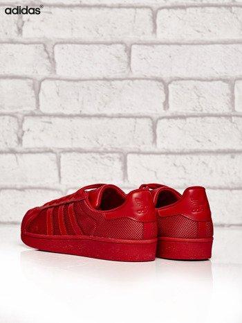 ADIDAS czerwone buty męskie Superstar Collegiate Red o dziurkowej fakturze                              zdj.                              4