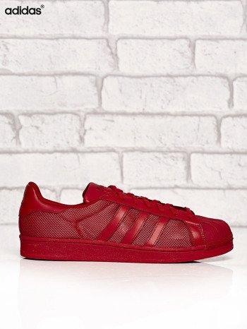 ADIDAS czerwone buty męskie Superstar Collegiate Red o dziurkowej fakturze                              zdj.                              1