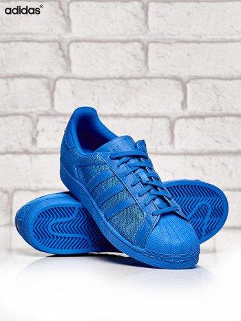 ADIDAS niebieskie buty męskie Superstar Blue z dziurkowaną fakturą                              zdj.                              3