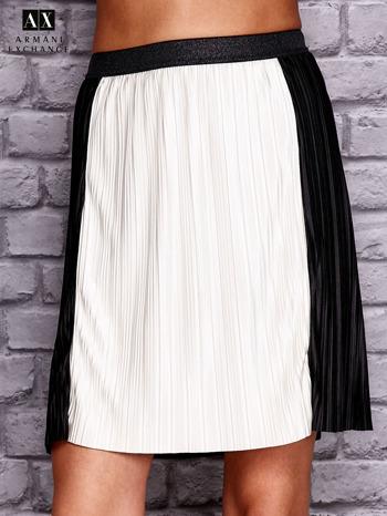 ARMANI Czarna plisowana spódnica two tone                                  zdj.                                  1