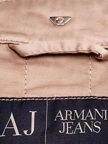 ARMANI JEANS Beżowa kurtka z paskiem                                  zdj.                                  4