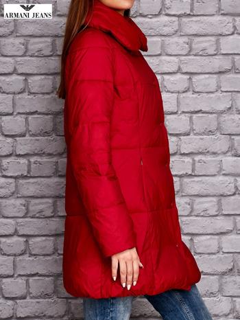 ARMANI JEANS Czerwona pikowana kurtka z kołnierzem                                  zdj.                                  2