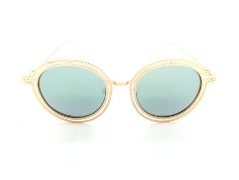 ASPEZO Okulary przeciwsłoneczne POLARYZACYJNE damskie srebrno-złote MAJORCA. Etui skórzane, etui miękkie oraz ściereczka z mikrofibry w zestawie                              zdj.                              1