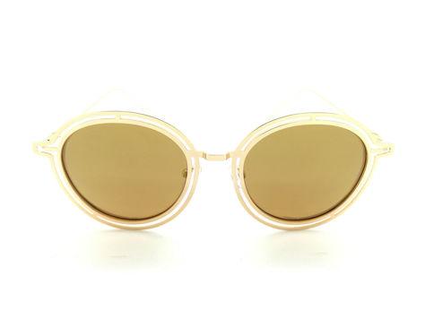 ASPEZO Okulary przeciwsłoneczne POLARYZACYJNE damskie złote MAJORCA. Etui skórzane, etui miękkie oraz ściereczka z mikrofibry w zestawie                              zdj.                              1
