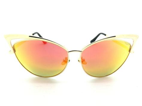 ASPEZO Okulary przeciwsłoneczne damskie POLARYZACYJNE pomarańczowe IBIZA Etui skórzane, etui miękkie oraz ściereczka z mikrofibry w zestawie                              zdj.                              1