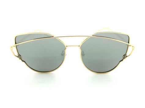 ASPEZO Okulary przeciwsłoneczne damskie POLARYZACYJNE złoto-srebrne LOS ANGELES Etui skórzane, etui miękkie oraz ściereczka z mikrofibry w zestawie                              zdj.                              1
