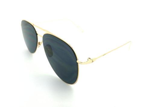 ASPEZO Okulary przeciwsłoneczne damskie czarno-złote BARCELONA. Etui skórzane, etui miękkie oraz ściereczka z mikrofibry w zestawie                              zdj.                              2