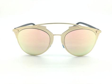 ASPEZO Okulary przeciwsłoneczne damskie różowe MONTREAL. Etui skórzane, etui miękkie oraz ściereczka z mikrofibry w zestawie                              zdj.                              1