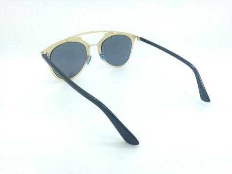 ASPEZO Okulary przeciwsłoneczne damskie złote MONTREAL. Etui skórzane, etui miękkie oraz ściereczka z mikrofibry w zestawie                              zdj.                              3