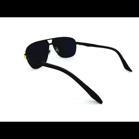 ASPEZO Okulary przeciwsłoneczne unisex POLARYZACYJNE złote FLORIDA Etui skórzane, etui miękkie oraz ściereczka z mikrofibry w zestawie                              zdj.                              3