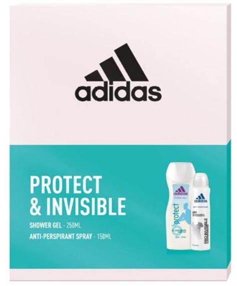 """Adidas Zestaw prezentowy Protect & Invisible Women (deo spray 150ml+żel pod prysz.250ml)"""""""