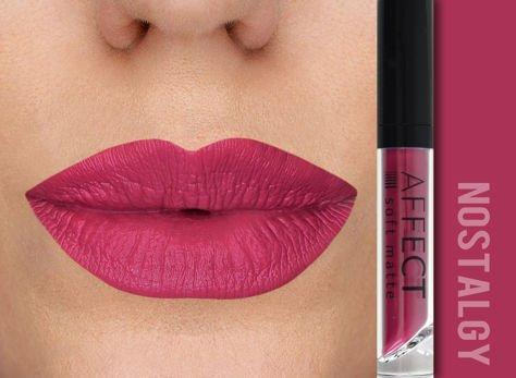 Affect Pomadka w płynie Liquid Lipstick Soft Matte Nostalgy 5 ml                              zdj.                              1