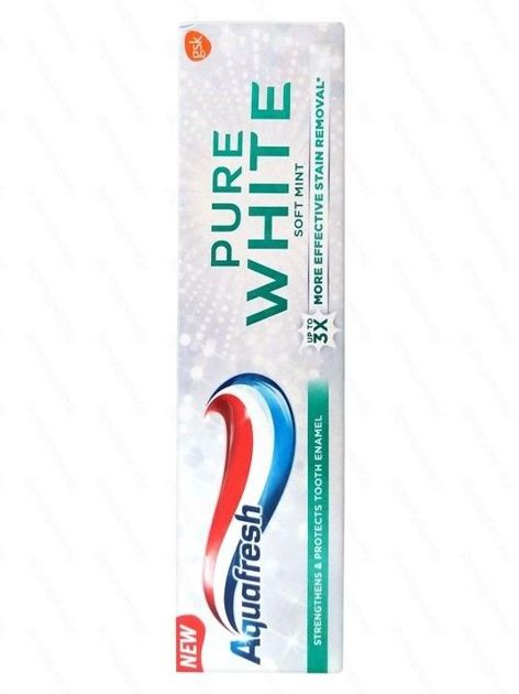 Aquafresh Pasta do zębów Pure White Soft Mint  75 ml                              zdj.                              1