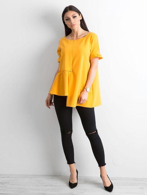 Asymetryczna bluzka żółta                              zdj.                              4