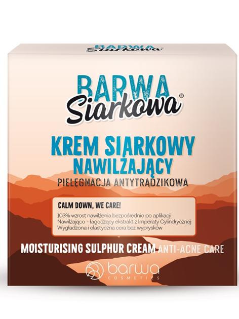 BARWA Siarkowa Naturalny krem antybakteryjny do twarzy długotrwale nawilżający - cera tłusta 50 ml