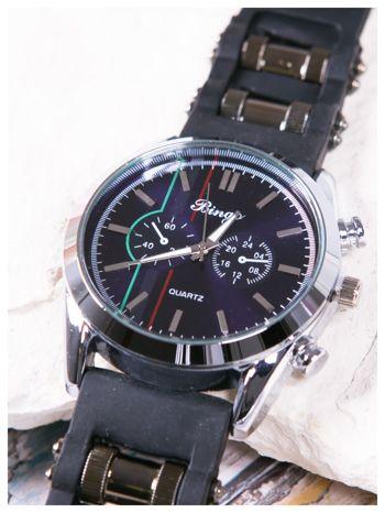 BINGO nowoczesny męski zegarek na miękkim żelowym pasku MEN'S MILITARY STYLE                                  zdj.                                  4