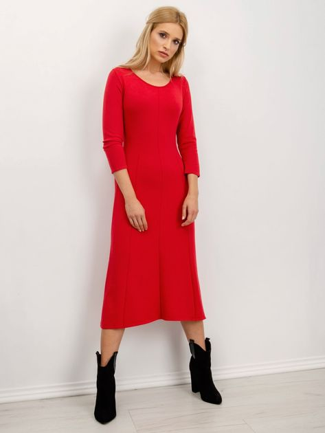 BSL Czerwona sukienka damska                              zdj.                              2