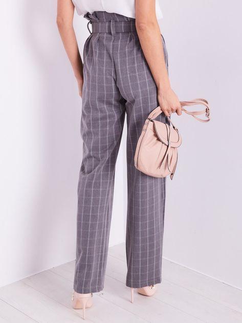 BY O LA LA Szare eleganckie spodnie w kratę                              zdj.                              10