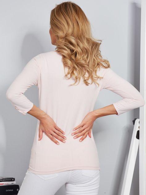 Bawełniana bluzka z guzikami jasnoróżowa                              zdj.                              2