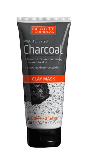 """Beauty Formulas Charcoal Maseczka z glinką głęboko oczyszczająca z aktywnym węglem  100ml"""""""
