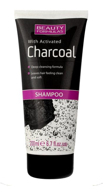 """Beauty Formulas Charcoal Szampon oczyszczający z aktywnym węglem  200ml"""""""