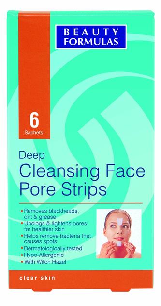 """Beauty Formulas Skin Care Głęboko oczyszczające paski na twarz"""""""