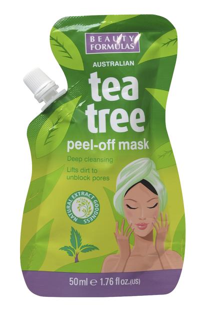 "Beauty  Formulas Tea Tree Maseczka peel-off  50ml"""
