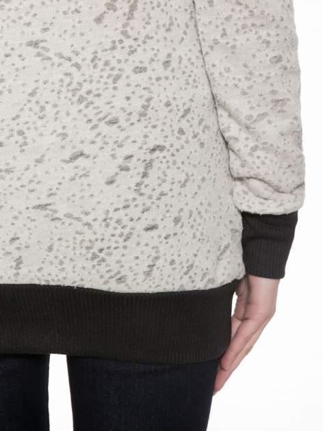 Beżowa bluza z nadrukiem wieży Eiffla                                  zdj.                                  8