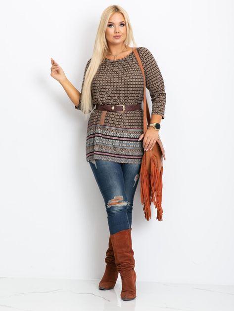 Beżowa bluzka plus size Casey                              zdj.                              4