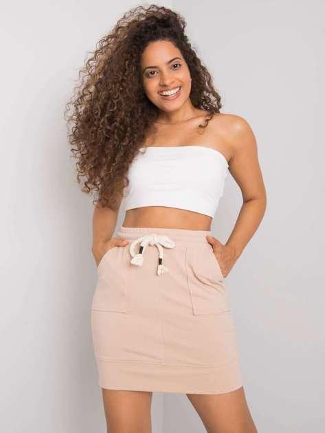 Beżowa spódnica dresowa Amelia