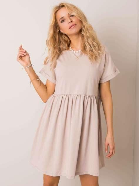 Beżowa sukienka Dita RUE PARIS