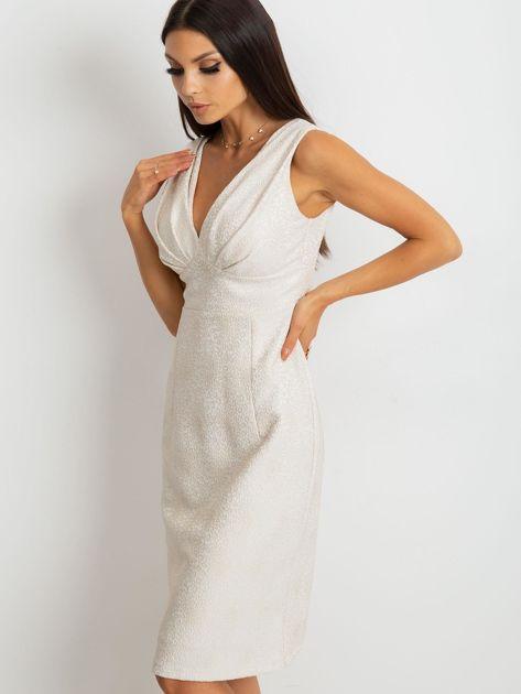Beżowa sukienka Lalima                              zdj.                              1