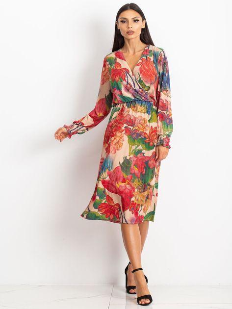 Beżowa sukienka Light                              zdj.                              5