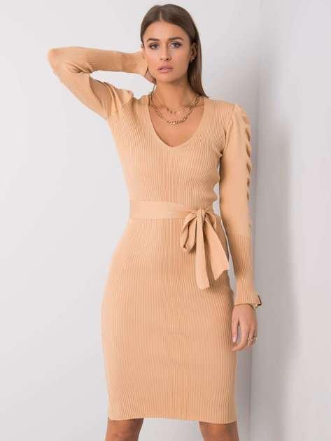 Beżowa sukienka Olive RUE PARIS