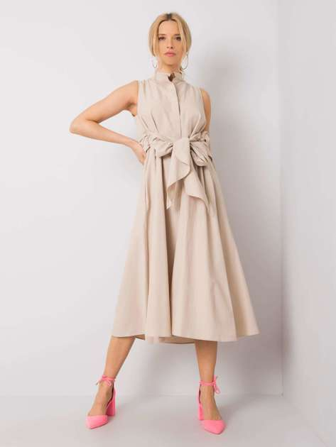 Beżowa sukienka Vivien RUE PARIS