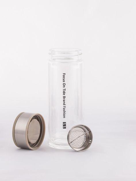Beżowa szklana butelka z sitkiem                              zdj.                              6