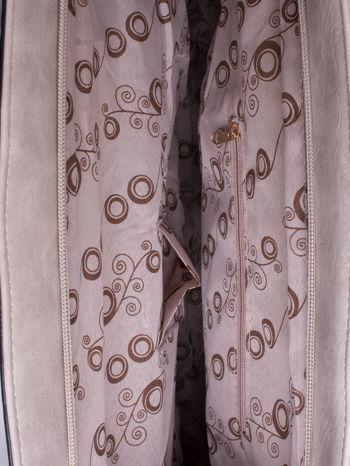 Beżowa torba city bag na ramię                                  zdj.                                  4