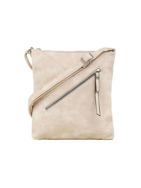 Beżowa torba z regulowanym paskiem