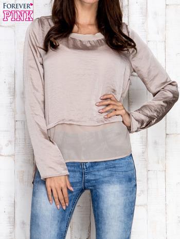 Beżowa warstwowa bluzka oversize                                  zdj.                                  1
