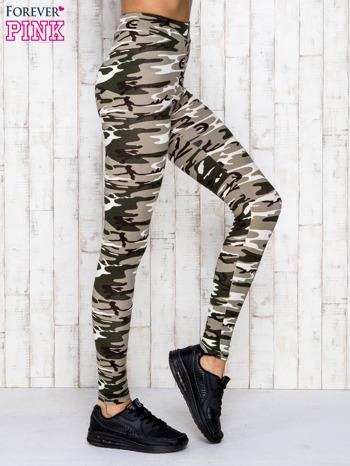 Beżowe legginsy z motywem militarnym                                  zdj.                                  3